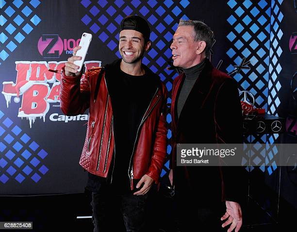 Recording artist Jake Miller and Elvis Duran attend Z100's Jingle Ball 2016 at Madison Square Garden on December 9 2016 in New York City