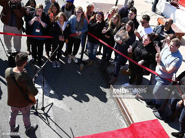 Recording artist Jake Miller performs for fans at the Jake Miller Ride Of Fame Imminent Induction Ceremony on October 11 2016 in New York City