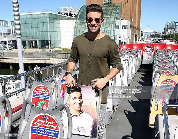 Recording artist Jake Miller poses for a photo at the Jake Miller Ride Of Fame Imminent Induction Ceremony on October 11 2016 in New York City