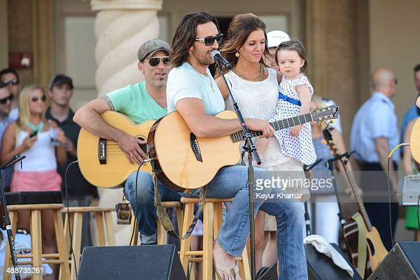 Recording artist Jake Owen introduces his wife Lacey Buchanan and their daughter Olive Pearl in concert during THE PLAYERS Championship Military...