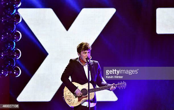 Recording artist Jake Roche of music group Rixton performs onstage during KIIS FM's Jingle Ball 2014 powered by LINE at Staples Center on December 5...