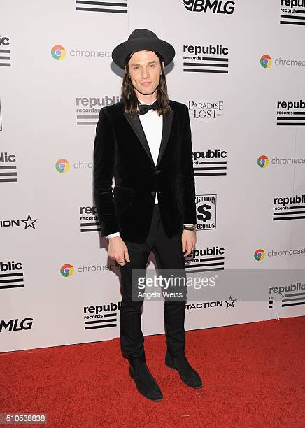 Recording artist James Bay attends the Republic Records Grammy Celebration presented by Chromecast Audio at Hyde Sunset Kitchen Cocktail on February...