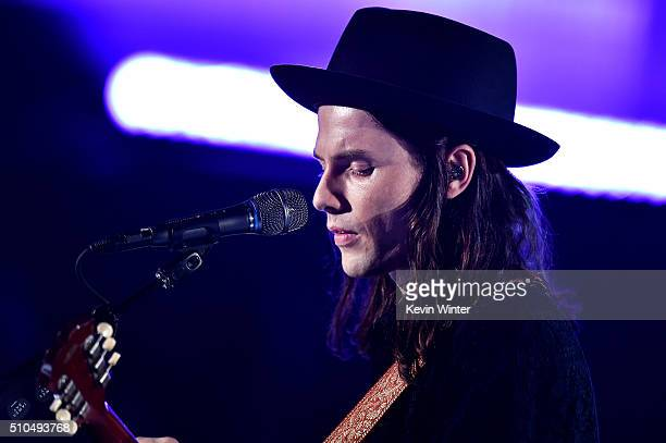 Recording artist James Bay performs onstage during The 58th GRAMMY Awards at Staples Center on February 15 2016 in Los Angeles California
