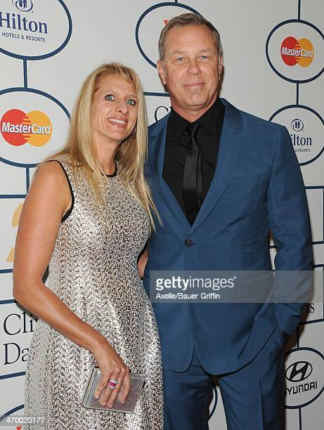 Recording artist James Hetfield of Metallica and Francesca Hetfield attend the Clive Davis And The Recording Academy's 2014 PreGRAMMY Gala at The...
