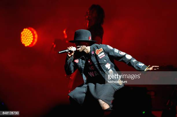 Recording artist Jamie Principle performs onstage with Gorillaz during the Meadows Music and Arts Festival Day 2 at Citi Field on September 16 2017...