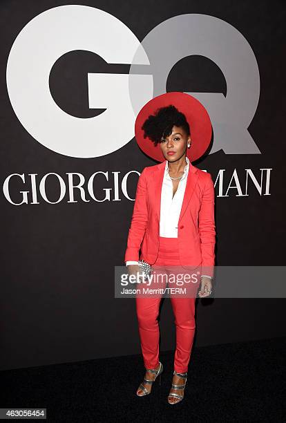 Recording artist Janelle Monae attends GQ and Giorgio Armani Grammys After Party at Hollywood Athletic Club on February 8 2015 in Hollywood California