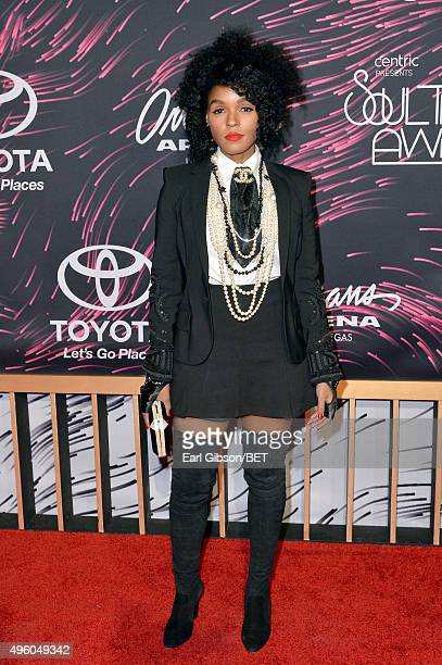 Recording artist Janelle Monae attends the 2015 Soul Train Music Awards at the Orleans Arena on November 6 2015 in Las Vegas Nevada