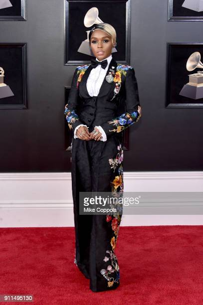 Recording artist Janelle Monae attends the 60th Annual GRAMMY Awards at Madison Square Garden on January 28 2018 in New York City