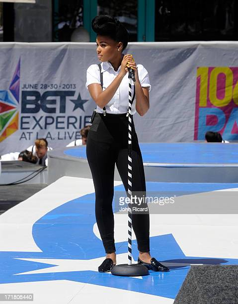 Recording Artist Janelle Monae performs onstage at 106 Park Live presented by Target during the 2013 BET Exeperience at LA LIVE on June 28 2013 in...