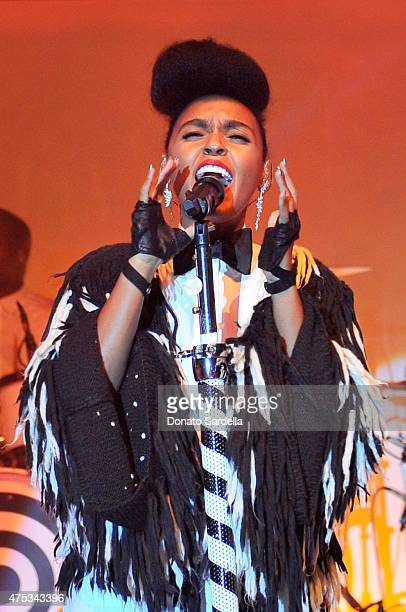 Recording artist Janelle Monae performs onstage during the 2015 MOCA Gala presented by Louis Vuitton at The Geffen Contemporary at MOCA on May 30...