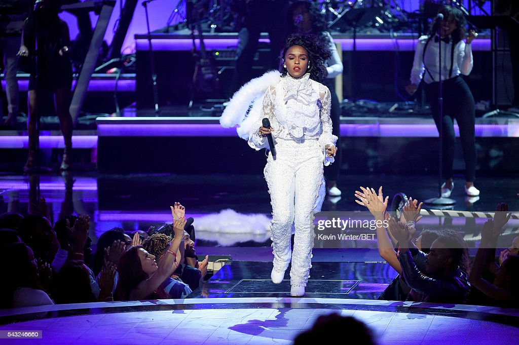 Recording artist Janelle Monae performs onstage during the 2016 BET Awards at the Microsoft Theater on June 26, 2016 in Los Angeles, California.