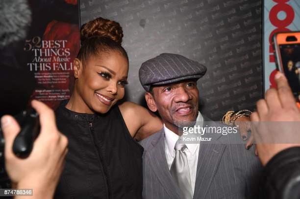 Recording artist Janet Jackson and actor Ralph Carter attend Janet Jackson Barclays After Party at Barclays Center on November 15 2017 in New York...