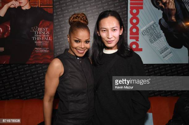 Recording artist Janet Jackson and Designer Alexander Wang attend Janet Jackson Barclays After Party at Barclays Center on November 15 2017 in New...