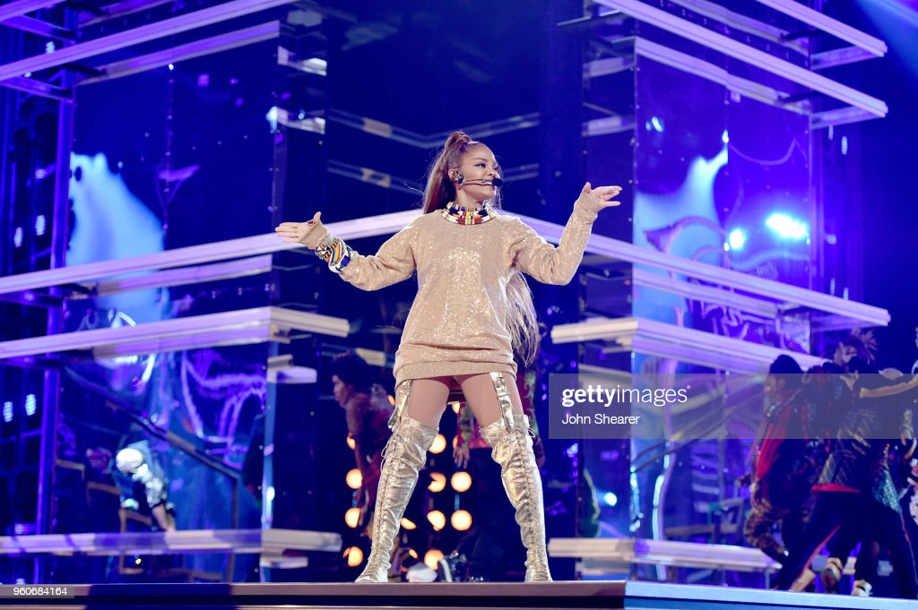 Recording artist Janet Jackson performs onstage during the 2018 Billboard Music Awards at MGM Grand Garden Arena on May 20, 2018 in Las Vegas, Nevada.