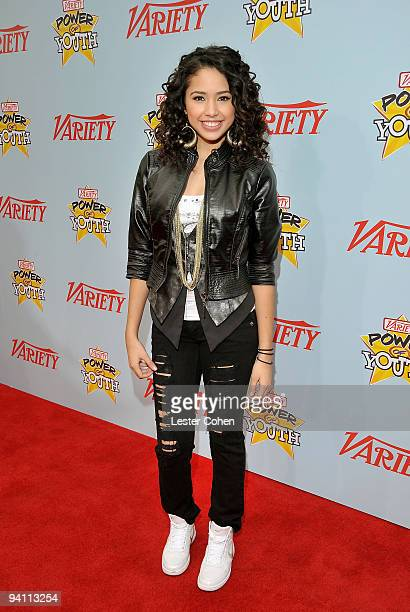 Recording artist Jasmine V arrives at Variety's 3rd annual Power of Youth event held at Paramount Studios on December 5 2009 in Los Angeles California