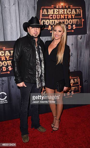 Recording artist Jason Aldean and Brittany Kerr attend the 2014 American Country Countdown Awards at Music City Center on December 15 2014 in...