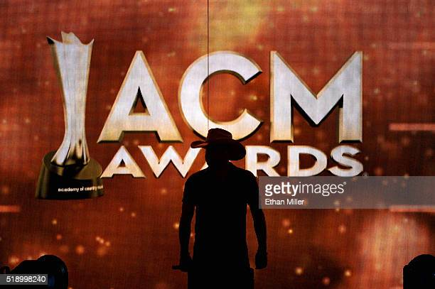 Recording artist Jason Aldean performs onstage during the 51st Academy of Country Music Awards at MGM Grand Garden Arena on April 3 2016 in Las Vegas...