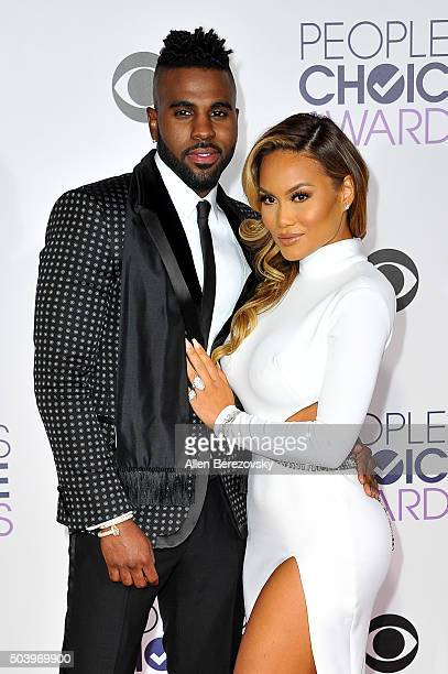 Recording artist Jason Derulo and Daphne Joy arrive at the People's Choice Awards 2016 at Microsoft Theater on January 6 2016 in Los Angeles...