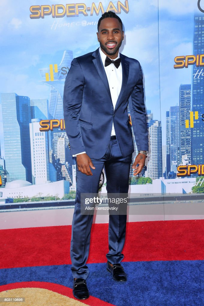 Recording artist Jason Derulo attends the premiere of Columbia Pictures' 'Spider-Man: Homecoming' at TCL Chinese Theatre on June 28, 2017 in Hollywood, California.