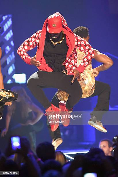 Recording artist Jason Derulo performs onstage during the 2014 iHeartRadio Music Festival at the MGM Grand Garden Arena on September 19 2014 in Las...