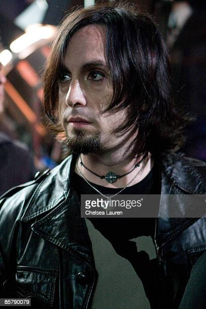 Recording Artist Jason Heiser of the Charm City Devils on set at JVC Mobile's Turn Me On Again Video Shoot at CBS Studios on April 2 2009 in Studio...