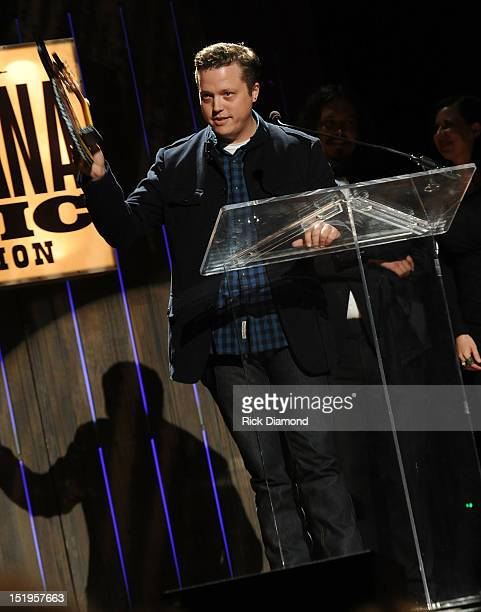 Recording Artist Jason Isbell receives Song of the Year Award for 'Alabama Pines' at the 11th Annual Americana Honors Awards at The Ryman Auditorium...