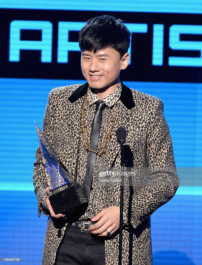 Recording artist Jason Zhang Jie speaks onstage at the 2014 American Music Awards at Nokia Theatre L.A. Live on November 23, 2014 in Los Angeles, California.