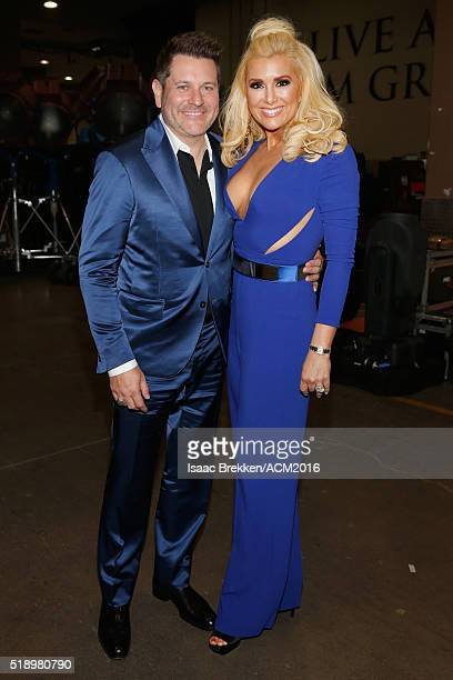 Recording artist Jay DeMarcus of Rascal Flatts and actress Allison Alderson attend the 51st Academy of Country Music Awards at MGM Grand Garden Arena...