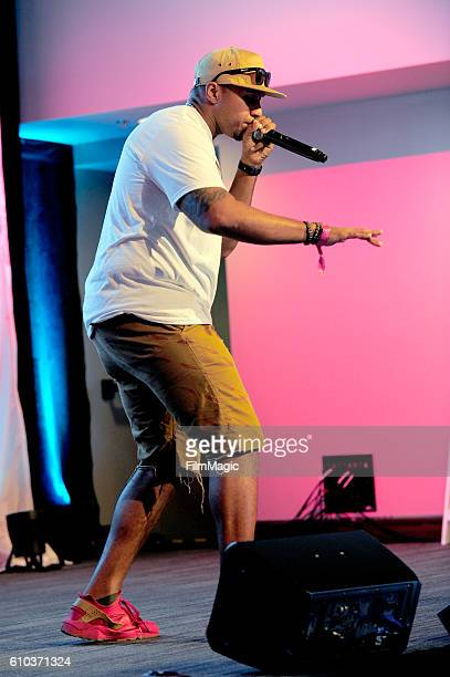 Recording artist Jay R Beatbox performs onstage at Ideas @ Venue Vegas during day 2 of the Life Is Beautiful festival on September 24 2016 in Las...
