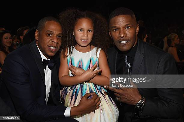 Recording Artist Jay Z Annalise Bishop and her father/actor Jamie Foxx attend The 57th Annual GRAMMY Awards at the STAPLES Center on February 8 2015...