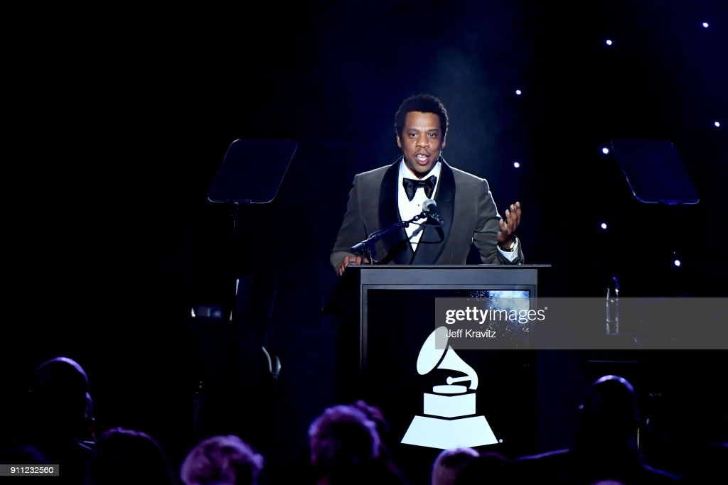 Recording artist Jay-Z performs onstage during the Clive Davis and Recording Academy Pre-GRAMMY Gala and GRAMMY Salute to Industry Icons Honoring Jay-Z on January 27, 2018 in New York City.