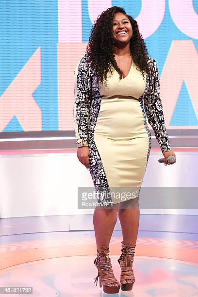 Recording artist Jazmine Marie Sullivan visits BET's 106 Park at BET Studio on July 7 2014 in New York City