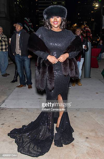 Recording Artist Jazmine Sullivan attends the 22nd Annual Holiday Tree Lighting Celebration at City Hall Courtyard on December 3 2015 in Philadelphia...