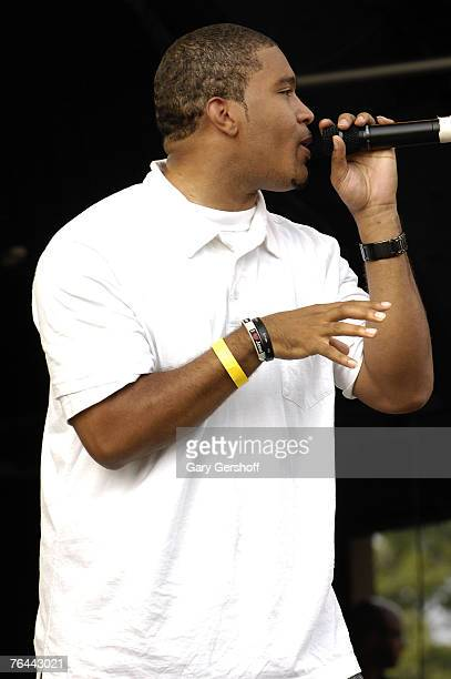 Recording Artist Jazz performs at The New York Call and Youth Xplosion Starbury Giveback Day on August 31 2007 in Eisenhower Park East Meadow New York