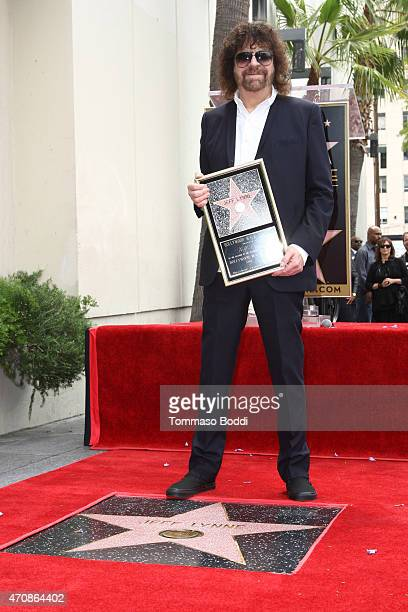 Recording artist Jeff Lynne attends his being honored with a Star on the Hollywood Walk of Fame on April 23 2015 in Hollywood California