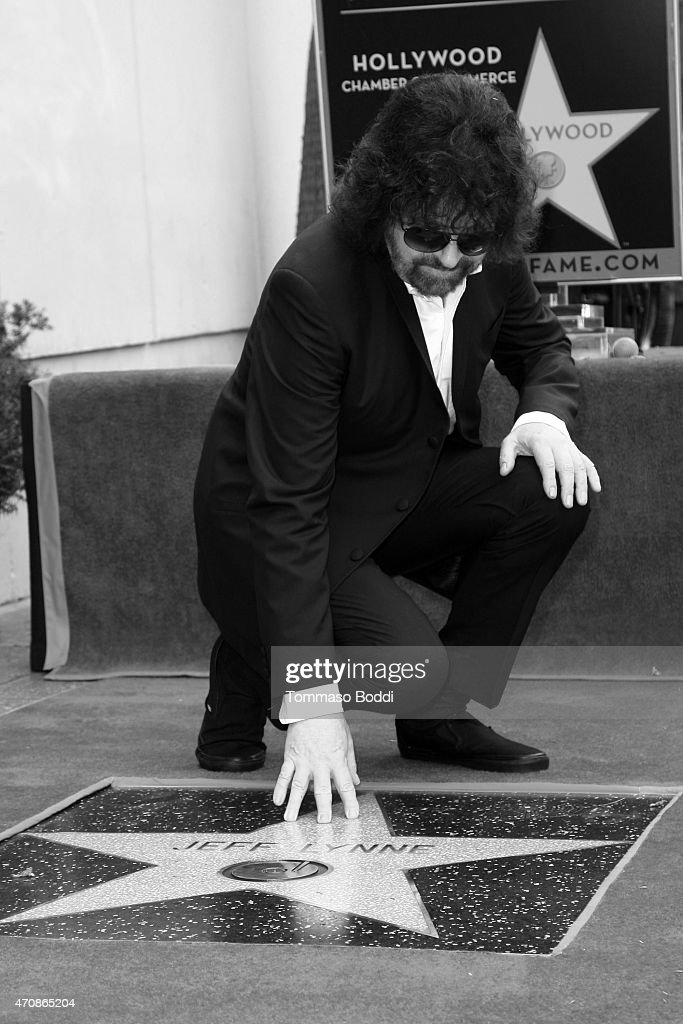 Recording artist Jeff Lynne is honored with a Star on the Hollywood Walk of Fame on April 23, 2015 in Hollywood, California.