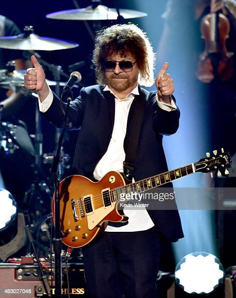 Recording artist Jeff Lynne performs onstage during The 57th Annual GRAMMY Awards at the STAPLES Center on February 8 2015 in Los Angeles California