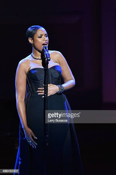 Recording artist Jennifer Hudson performs onstage at the 2015 Glamour Women of the Year Awards on November 9, 2015 in New York City.