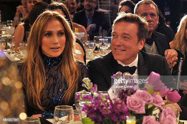 Recording artist Jennifer Lopez and agent Kevin Huvane during the 25th Annual GLAAD Media Awards at The Beverly Hilton Hotel on April 12 2014 in Los...