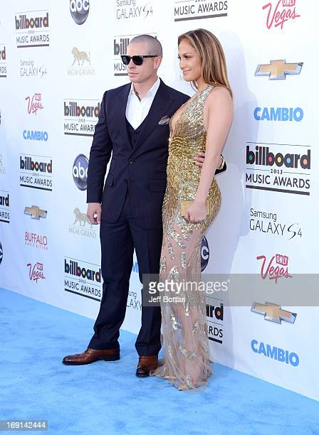 Recording Artist Jennifer Lopez and Casper Smart arrive at the 2013 Billboard Music Awards at the MGM Grand Garden Arena on May 19 2013 in Las Vegas...