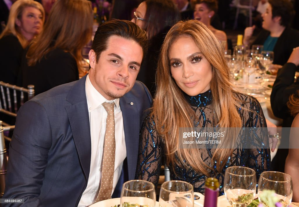 Recording artist Jennifer Lopez (R) and Choreographer Casper Smart attend the 25th Annual GLAAD Media Awards at The Beverly Hilton Hotel on April 12, 2014 in Los Angeles, California.