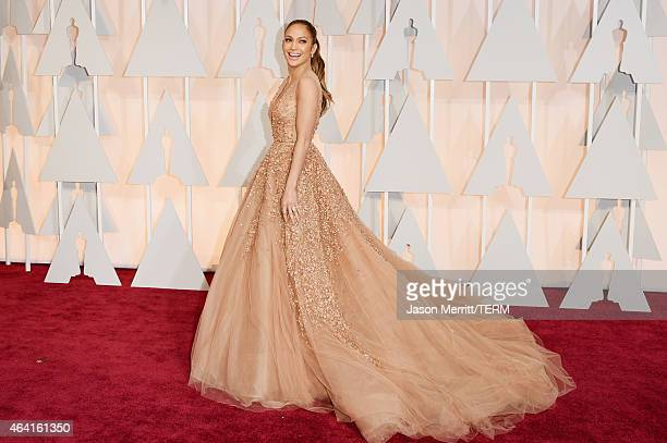 Recording artist Jennifer Lopez attends the 87th Annual Academy Awards at Hollywood Highland Center on February 22 2015 in Hollywood California