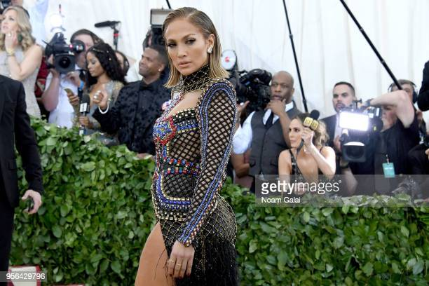 Recording artist Jennifer Lopez attends the Heavenly Bodies Fashion The Catholic Imagination Costume Institute Gala at The Metropolitan Museum of Art...