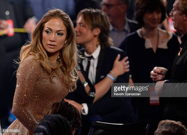 Recording artist Jennifer Lopez is overcome with emotion during FOX's 'American Idol' Finale For The Farewell Season at Dolby Theatre on April 7 2016...