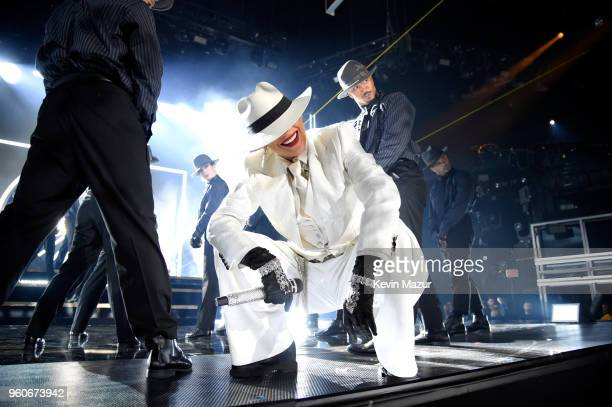 Recording artist Jennifer Lopez performs onstage at the 2018 Billboard Music Awards at MGM Grand Garden Arena on May 20 2018 in Las Vegas Nevada