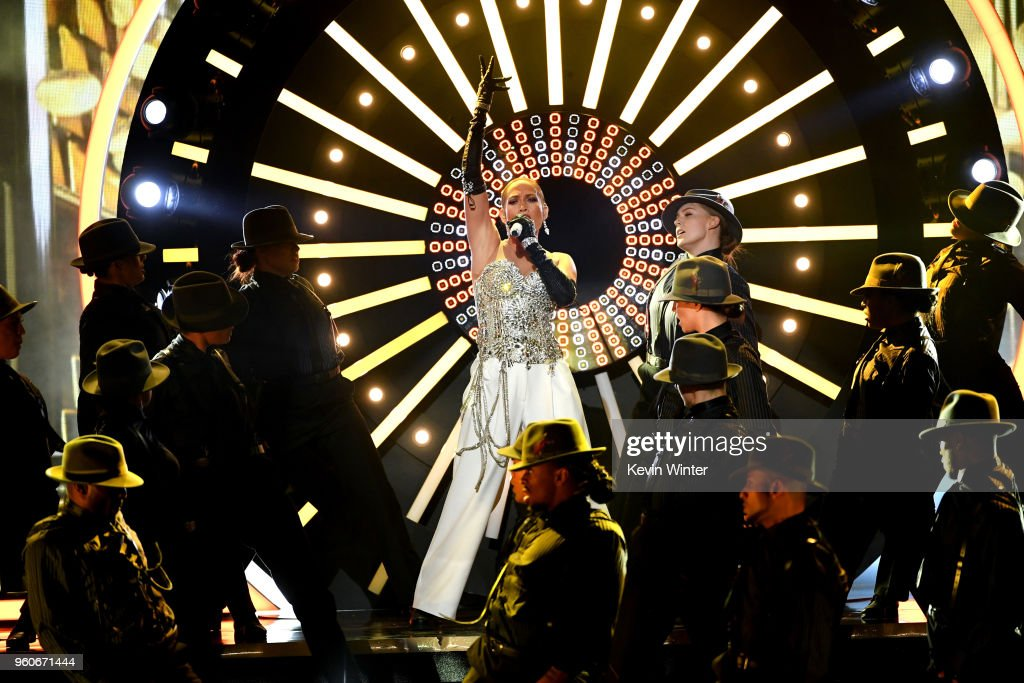 Recording artist Jennifer Lopez performs onstage during the 2018 Billboard Music Awards at MGM Grand Garden Arena on May 20, 2018 in Las Vegas, Nevada.