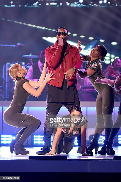Recording artist Jeremih performs onstage during the 2015 Soul Train Music Awards at the Orleans Arena on November 6 2015 in Las Vegas Nevada