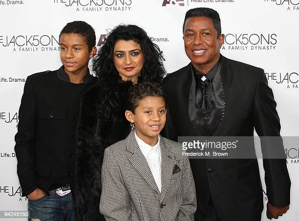 Recording artist Jermaine Jackson and his family attend the premiere of A E Network's 'The Jacksons A Family Dynasty' at Boulevard 3 on December 9...