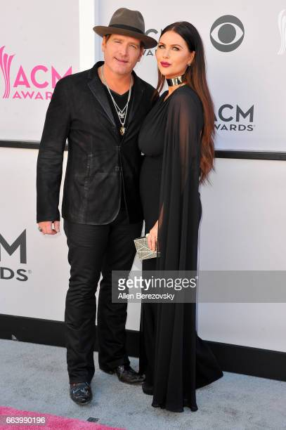 Recording artist Jerrod Niemann and Morgan Petek arrive at the 52nd Academy Of Country Music Awards on April 2 2017 in Las Vegas Nevada