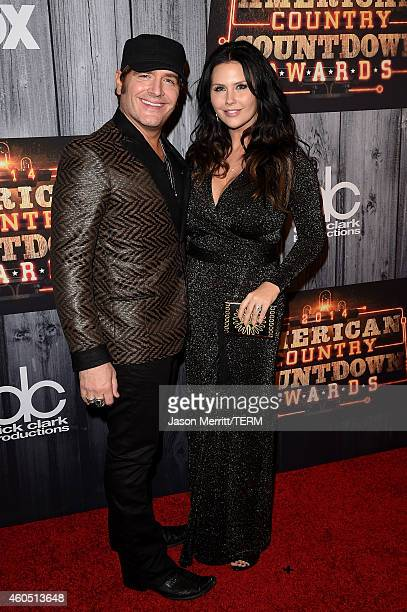 Recording artist Jerrod Niemann and Morgan Petek attend the 2014 American Country Countdown Awards at Music City Center on December 15 2014 in...